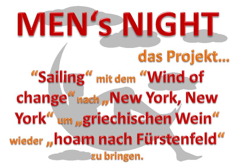 Alle Info´s zur Men´s Night 2015